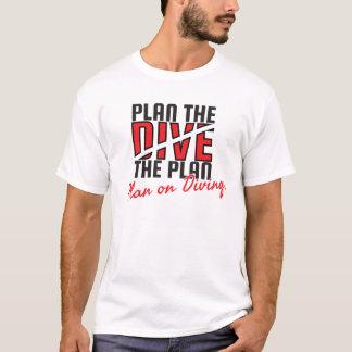 Planen Sie das Tauchen T-Shirt