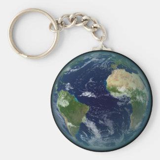 Planet Erde Standard Runder Schlüsselanhänger