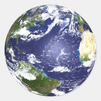 Planeten-Erdaufkleber Runder Aufkleber
