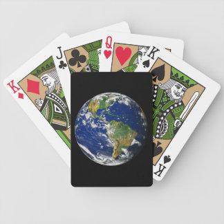 Planeten-Erde Bicycle Spielkarten