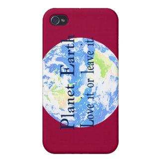 Planeten-Erde - Liebe verlässt es oder sie iPhone 4 Hüllen