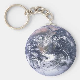 Planeten-Erde Standard Runder Schlüsselanhänger