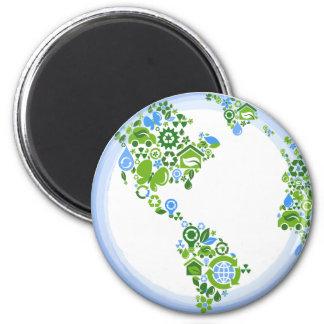 Planeten-ErdÖko recyceln Magneten Runder Magnet 5,7 Cm