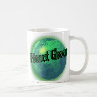 Planeten-Grün Kaffeetasse
