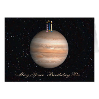 Planeten-Jupiter-Geburtstags-Karte Karte