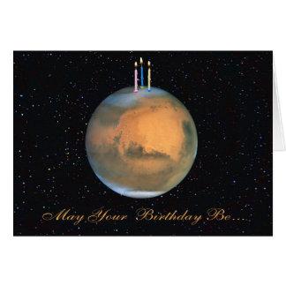 Planeten-Mars-Geburtstags-Karte Karte