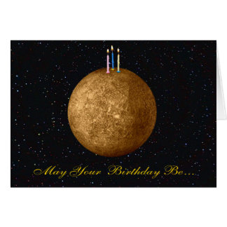 Planeten-Mercury-Geburtstags-Karte Karte