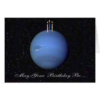 Planeten-Neptun-Geburtstags-Karte Karte
