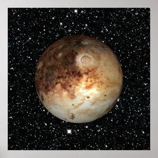 PLANETEN-PLUTO-Sternhintergrund (Sonnensystem) ~ Poster
