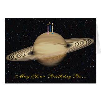 Planeten-Saturn-Geburtstags-Karte Karte