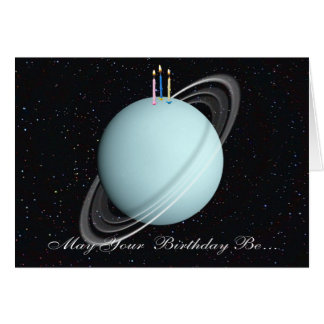 Planeten-Uranus-Geburtstags-Karte Karte
