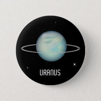 Planeten-Uranus-Knopf-Abzeichen Runder Button 5,7 Cm