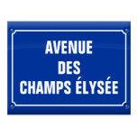 plaque avenue des Champs Elysées - FRANCE Cartes Postales