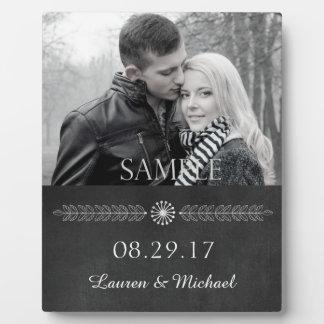 Plaque Photo Modèle photo noir et blanc de mariage de tableau
