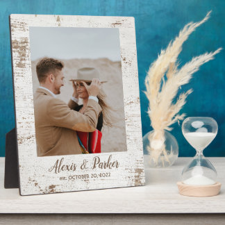 Plaque Photo Souvenir rustique de photo de mariage campagnard