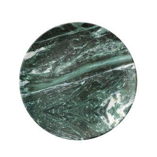 Plat vert de porcelaine de texture en pierre de assiette en porcelaine
