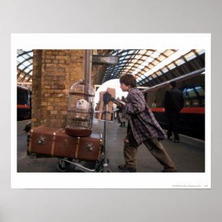 Plate-forme 9 3/4 de Harry et de Hedwig Affiches