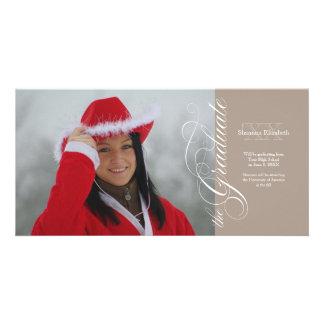 Platin-elegante Skript-Abschluss-Fotokarte