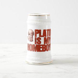 Plato ist mein Homeboy Bierkrug