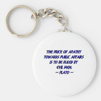 Plato und schlechte Männer Standard Runder Schlüsselanhänger