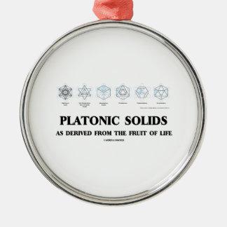 Platonische Körper, wie von der Frucht des Lebens Silbernes Ornament