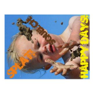 Platsch, Matsch, glückliche Tage! Postkarte