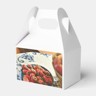 Platte der Erdbeeren Geschenkschachtel