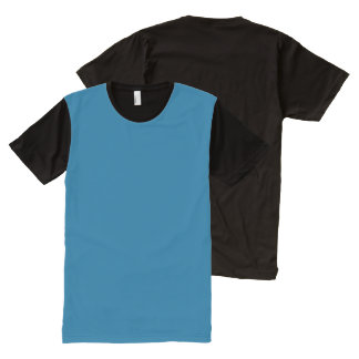 Platten-T - Shirt-Farbe: #006292 DIY addieren T-Shirt Mit Komplett Bedruckbarer Vorderseite