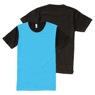 Platten-T - Shirt-Farbe: #00b0ef DIY addieren T-Shirt Mit Komplett Bedruckbarer Vorderseite