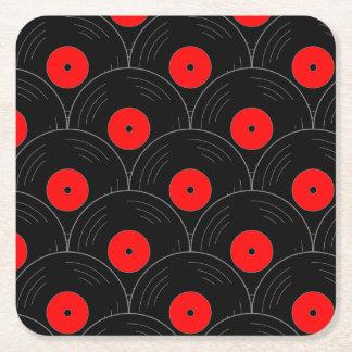 Plattenen-Druck-Aufzeichnungs-Kollektor Rechteckiger Pappuntersetzer