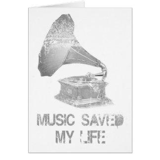 Plattenspieler - Musik rettete mein Leben Karte