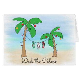 Plattform das Palmen-tropische Strand-Weihnachten Karte