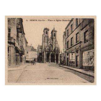 Platz de L'eglise de Notre Dame 1903 Frankreichs Postkarte