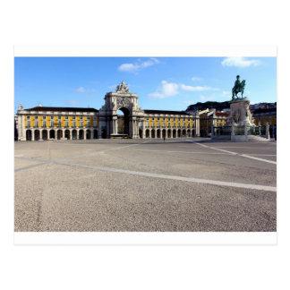 Platz des Handels, des Lissabons, des Portugals, Postkarte