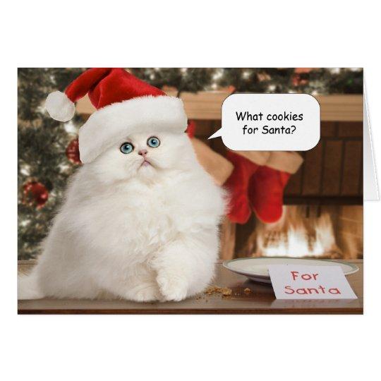 Plätzchen für Sankt-Weihnachtskarte Karte