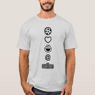 Plätzchen-Liebe-Plätzchen-Monster T-Shirt