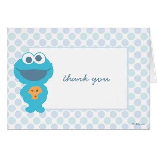 Plätzchen-Monster-Babyparty danken Ihnen Karte