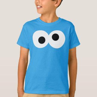 Plätzchen-Monster-großes Gesicht T-Shirt