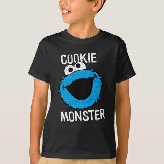 Plätzchen-Monster-Muster-Gesicht T-Shirt