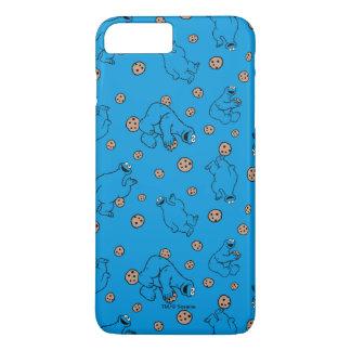 Plätzchen-Monster und Plätzchen-Blau-Muster iPhone 8 Plus/7 Plus Hülle