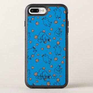 Plätzchen-Monster und Plätzchen-Blau-Muster OtterBox Symmetry iPhone 8 Plus/7 Plus Hülle