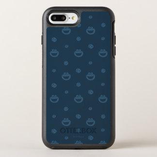 Plätzchen-Monster-und Plätzchen-blaues OtterBox Symmetry iPhone 8 Plus/7 Plus Hülle
