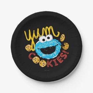 Plätzchen-Monster Yum Pappteller