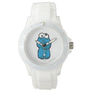 Plätzchen-Monster-Zombie Armbanduhr