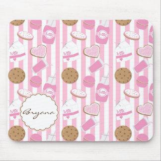 Plätzchen u. Milch-rosa Bäckerei-niedliche Mousepad