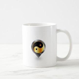 Platzierung mit dem Ying und Yang-Symbol Kaffeetasse