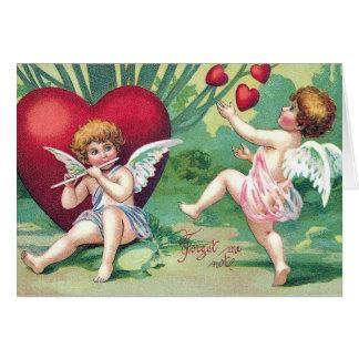 Playful AmorenRetro niedliche Vintage Grußkarte