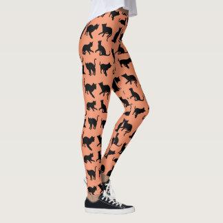 Playful Katzen-Silhouette Leggings