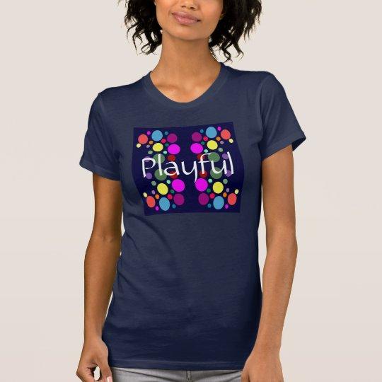 PLAYFUL Regenbogen-Bälle auf Frauen des T-Shirt