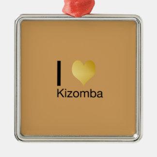 Playfully elegantes i-Herz Kizomba Silbernes Ornament